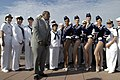 US Navy 060525-N-9640H-003 Television personality and weatherman Mr. Al Roker interviews the famous Radio City Rockettes and Sailors from several ships participating in Fleet Week New York 2006.jpg