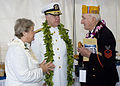 US Navy 061207-N-9076B-092 Commander U.S. Pacific Fleet Adm. Gary Roughead and his wife Ellen, talk with Pearl Harbor survivor Edward F. Borucki of Massachusetts after taking part in the joint U.S. Navy-National Park Service ce.jpg