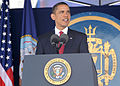 US Navy 090522-N-1026O-001 U.S. President Barack Obama delivers the commencement address during the U.S. Naval Academy Class of 2009 graduation and commissioning ceremony.jpg