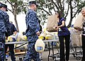 US Navy 101118-N-5694F-080 Sailors assigned to Naval Base Coronado receive complimentary food baskets and turkeys at the Naval Outlying Field Imper.jpg