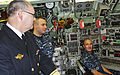 US Navy 111010-N-ZZ999-003 Rear Adm. Bernt Grimstvedt, chief of the Royal Norwegian navy, speaks with Sailors assigned to the Los Angeles-class sub.jpg