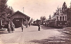 Uetliberg railway station - Image: Uetlibergbahn Zurich Switzerland 1925