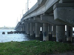 Under north end of Adabo North Channel Bridge jeh.jpg