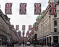 Union flags along Regent Street, London (geograph 5779944).jpg