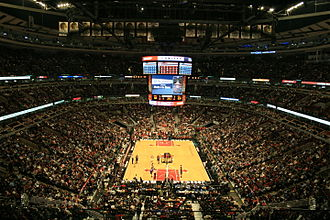 United Center - The United Center during a Bulls basketball game.
