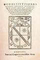 Universidad de Sigüenza (1572) Constituciones.png