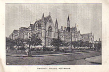 Photograph of the University College Nottingham (Arkwright Building), from the Illustrated Guide to the Church Congress 1897