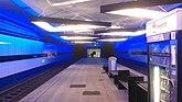 Unterirdische Tramhaltestelle Tierspital, ursprünglich für die U-Bahn erbaut