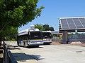 Vacaville City Coach buses at Vacaville Transportation Center, May 2019.JPG