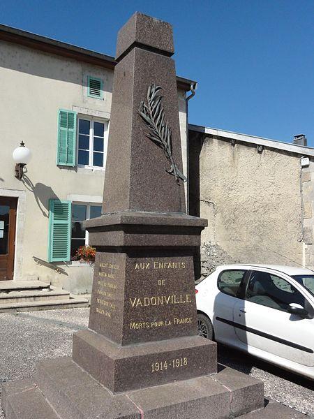 Vadonville (Meuse) monument aux morts