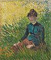 Van Gogh - Frau, im Gras sitzend.jpeg