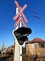 Vasúti átjáró fényjelzője Szentlőrincen.jpg