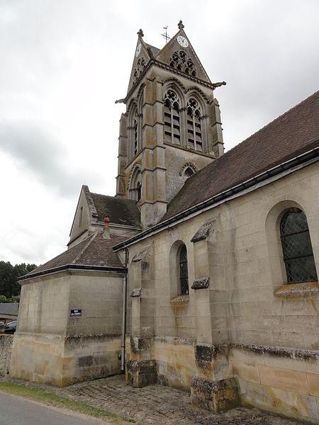 Vasseny (Aisne) église Saint-Rupert et Saint-Druon, coté Rue des Dames
