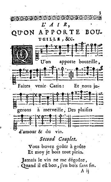 Filevaudeville Quon Apporte Bouteille From La Clef Des