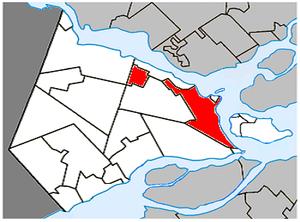 Vaudreuil-Dorion - Image: Vaudreuil Dorion Quebec location diagram