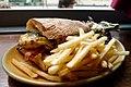 Veggie ciabatta sandwich with chips - Lukin, Fitzrovia, London.jpg