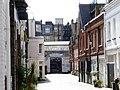Vehicle entrance, Army Reserve Centre, Adam & Eve Mews - geograph.org.uk - 4445761.jpg