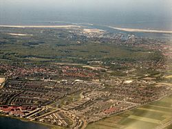 Aerial view of Velserbroek and IJmuiden