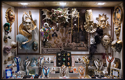 A Mask gift shop near Piazza San Marco