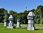 Ventilation shafts of Memorial Museum of Cosmonautics in Moscow.jpg