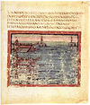Vergilius Vaticanus - BAV Lat.3225 - f42 - start of the ship race.jpg