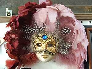 Masquerade ball - A Venziana mask from Verona, Italy.