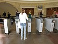 Vestibule of Rizhskaya station, turnstiles (Вестибюль станции Рижская, турникеты) (5056913294).jpg