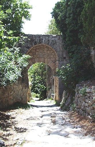 Via Clodia - The Via Clodia at Saturnia near to Porta Romana