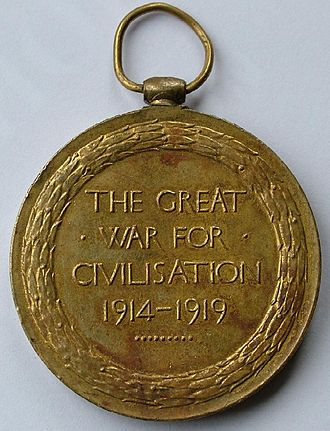 Victory Medal (United Kingdom) - Image: Victory Reverse