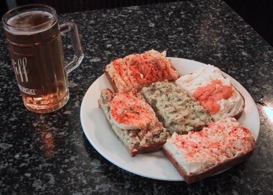 Viennese Open face sandwiches