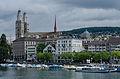 View of Limmatquai and Grossmünster, Zürich 20120626 1.jpg