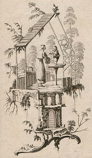Jean-Baptiste Pillement - Unknown engraver after J. Pillement. Vignette au gout chinois. 1760s. Private collection, Russia
