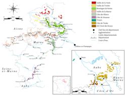 vingårdar frankrike karta Champagne – Wikipedia vingårdar frankrike karta
