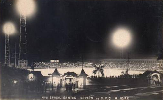 Estádio Urbano Caldeira - Santos' first match during the night took place on March 21, 1931