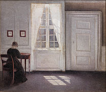 HAMMERSHØI Vilhelm A Room in the Artist's Home 1901
