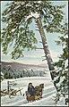 Vinterlandskap med hest og slede (16303958397).jpg