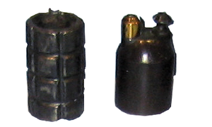 VB rifle grenade - VB grenade on the right
