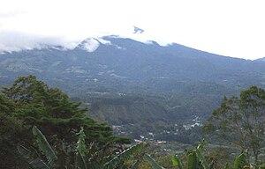 Volcán Barú - Volcán Barú and the mountain city of Boquete