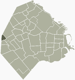 Location of Villa Real within Buenos Aires