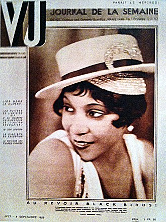 I Can't Give You Anything but Love, Baby - Adelaide Hall on the  cover of Vu magazine in 1929