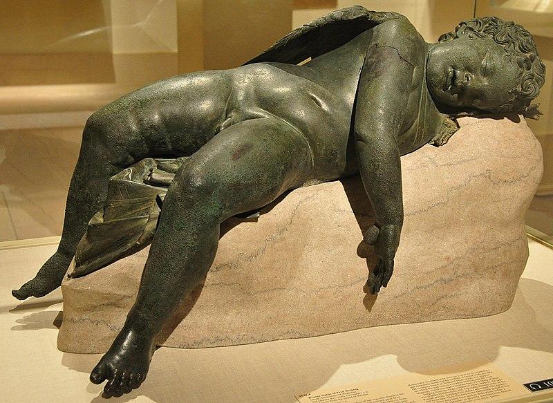 File:WLA metmuseum Bronze statue of Eros sleeping 2.jpg