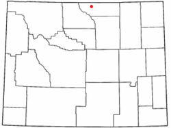 Location of Dayton, Wyoming