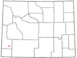 Location of Opal, Wyoming