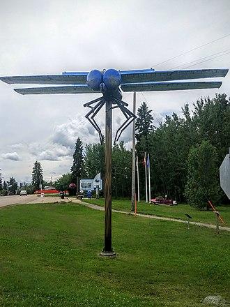 Wabamun, Alberta - Dragonfly sculpture in Wabamun
