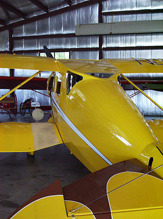 Waco Standard Cabin series - Waco UEC at the EAA Airventure Museum, Oshkosh showing distinctive skylight used on early cabin Wacos