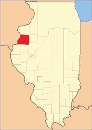 Warren County, Illinois - Image: Warren County Illinois 1825