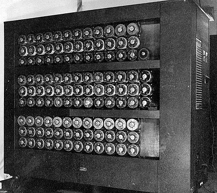 A wartime picture of a Bletchley Park Bombe Wartime picture of a Bletchley Park Bombe.jpg