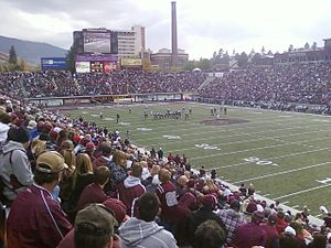 Washington–Grizzly Stadium - Looking southwest in 2010, against NAU on October 23