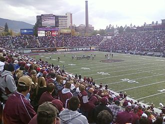 Washington–Grizzly Stadium - Looking southwest in 2010, against NAU on October 23
