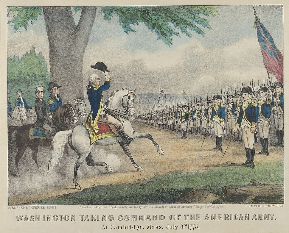 Washington Taking Command of the American Army – At Cambridge, Massachusetts, July 3rd, 1775 MET DP853566